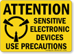 Attention Sensitive Electronic Devices Sign