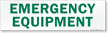 Magnetic Cabinet Label: Emergency Equipment