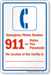 Emergency Phone Number. 911 for Police, Fire, Paramedic. The location of this facility is ...
