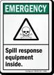 Emergency Spill Response Sign