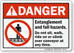 Entanglement And Fall Hazards Danger Sign