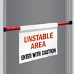 Enter With Caution Door Barricade Sign
