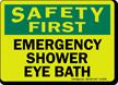 Safety First: Emergency Shower Eye Bath