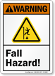 Fall Hazard ANSI Warning Sign