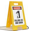 Danger Falling Ice Snow Floor Sign