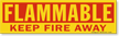 Magnetic Cabinet Label: Flammable Keep Fire Away