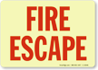 Fire Escape Sign
