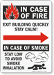 In Case Fire Exit Building Right Arow Sign