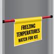 Freezing Temperature Door Barricade Sign