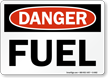 Danger Fuel Sign