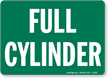 Gas Cylinder Compressed Gas Sign onmouseover =