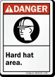Danger (ANSI) Hard Hat Area Sign
