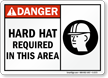 Danger Hard Hat Required This Area Sign