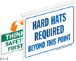 Hard Hat Required Safety First Sign