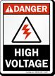Danger (ANSI) High Voltage Sign