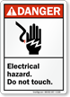 ANSI Electrical Hazard Do Not Touch Sign