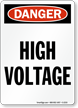 Danger: High Voltage (vertical)
