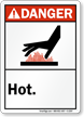 Danger (ANSI): Hot (with graphic)