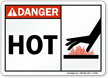 Danger: Hot (with graphic on right)
