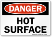 Hot Surface OSHA Danger Sign