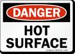 Hot Surface OSHA Danger Sign