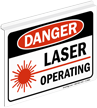Danger Laser Operating (with graphic)