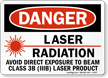 Danger Laser Radiation Avoid Direct Exposure Sign