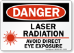 Danger Laser Radiation Avoid Exposure Sign