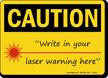 Caution: Laser Symbol