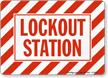 Lockout Station Lockout Sign