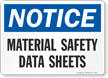 Material Safety Data Sheets Sign