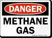 Methane Gas OSHA Danger Sign