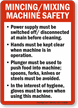 Mincing/Mixing Machine Safety Guidelines Sign