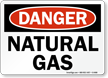 Danger Natural Gas Sign