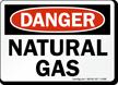 Danger Natural Gas Sign
