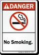No Smoking ANSI Danger Sign