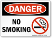 No Smoking OSHA Danger Sign