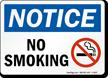 Notice: No Smoking (with symbol)