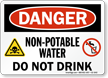 Non Potable Water Danger Sign
