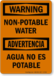 Non Potable Water Bilingual Sign