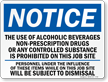 Notice No Alcohol Beverages Sign