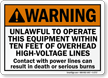 Warning Unlawful To Operate This Equipment Sign