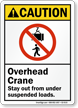 Overhead Crane Stay Out From Under Suspended Loads Sign