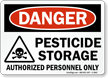 Danger Pesticide Storage Authorized Personnel Sign