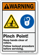 Pinch Point Keep Hands Clear Of Rollers Sign