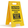 Renovation Work, Do Not Enter Standing Floor Sign