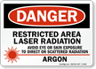 Laser Radiation Avoid Eye Skin Exposure Sign
