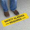 Safety Glasses Required SlipSafe & GripGuard Floor Sign