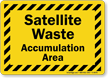 Satellite Waste Accumulation Area Sign