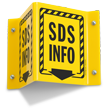 SDS Info With Striped Border 2-Sided Projecting Sign